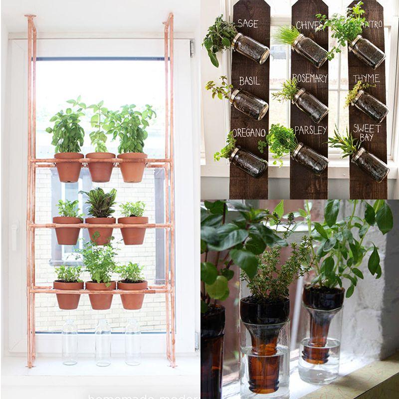 DIY to try Indoor herbs garden Herbs indoors, Small