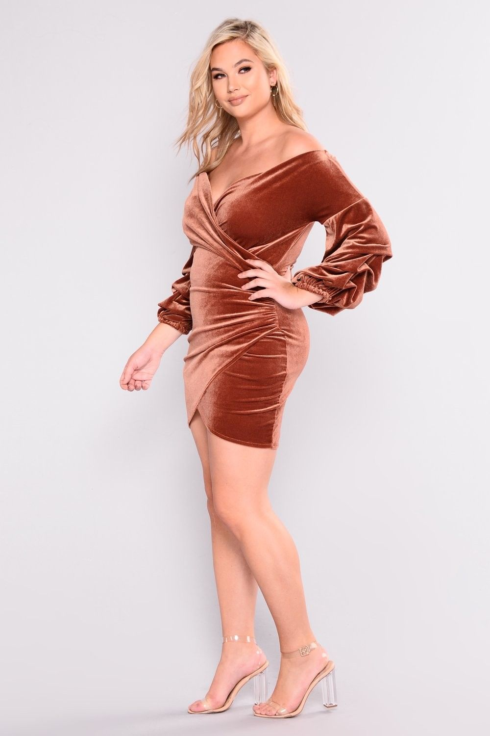 f1a7c84ff2 Plus Size Blair Velvet Dress - Rust  29.99  fashion  ootd  outfit  oufits