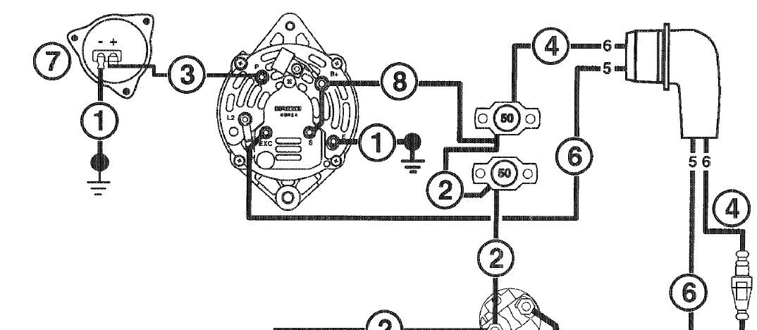 volvo alternator wiring diagram boat pinterest volvo diagram rh pinterest com volvo alternator wiring diagram volvo s40 alternator wiring diagram