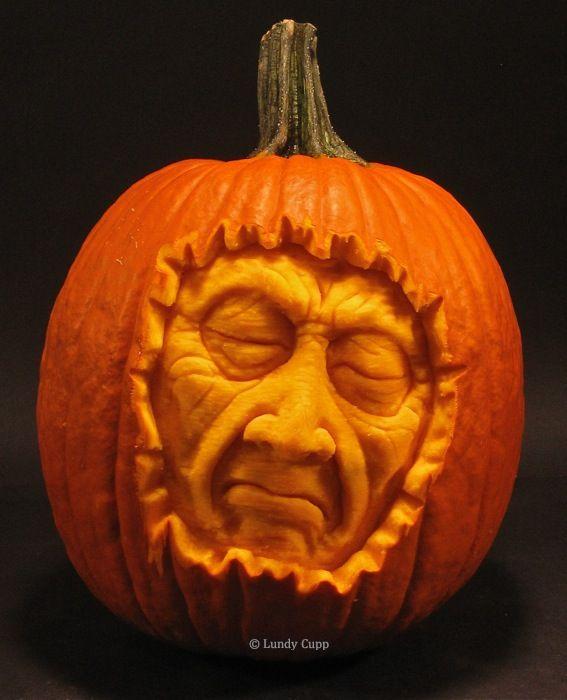 Happy Halloween Realistic Pumpkins Pumpkin Carving Pumpkin Sculpting