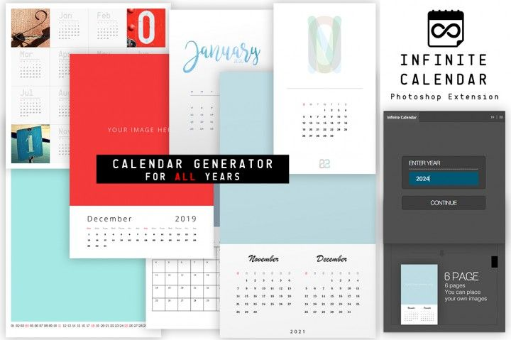 Infinite Calendar - Calendar Generator For All Years Love art