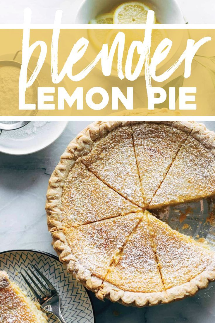 Blender Lemon Pie - Favorite Recipes -