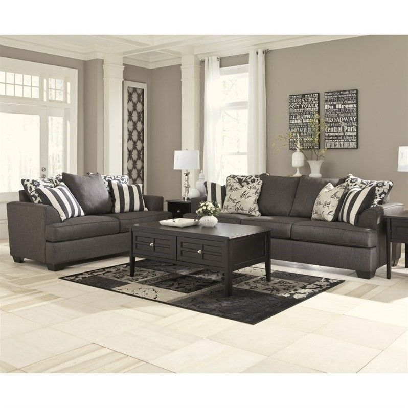 Signature Design by Ashley Furniture Levon 2 Piece Sofa Set in ...
