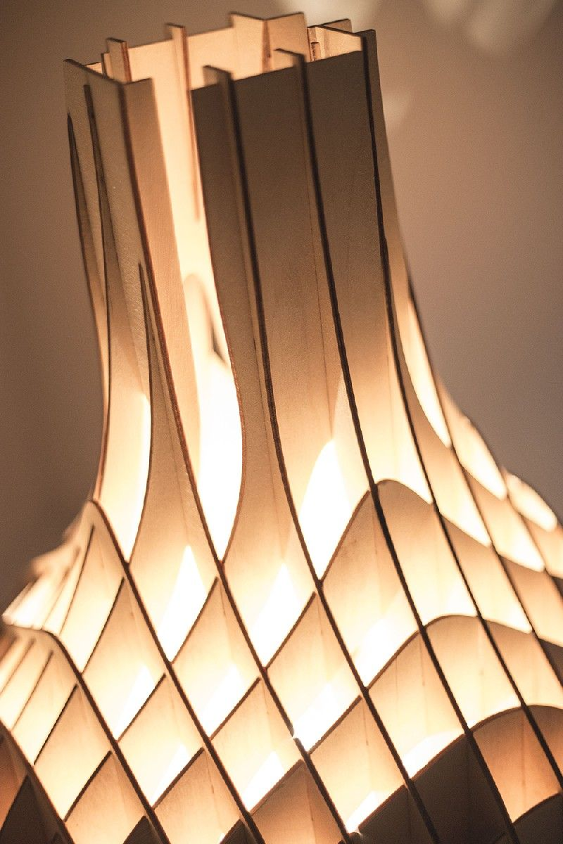 plywood lighting. Soft Glow Cast By Original Plywood Lighting Unit From Mariam Ayvazyan X
