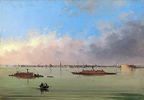Gunboats In Charleston Harbor Civil War