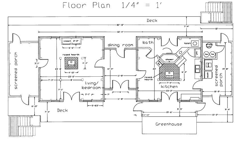 Dog Trot House Plans | The Cad Drawing Below Shows The Floor Plan