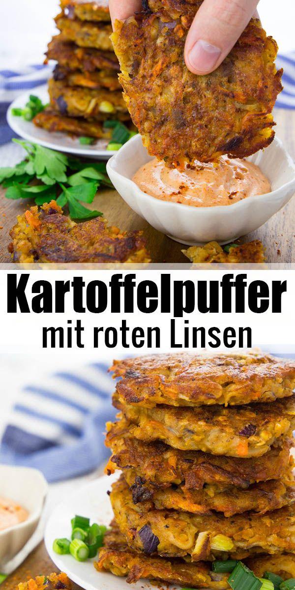 Kartoffelpuffer vegan und super einfach #veganerezeptemittag