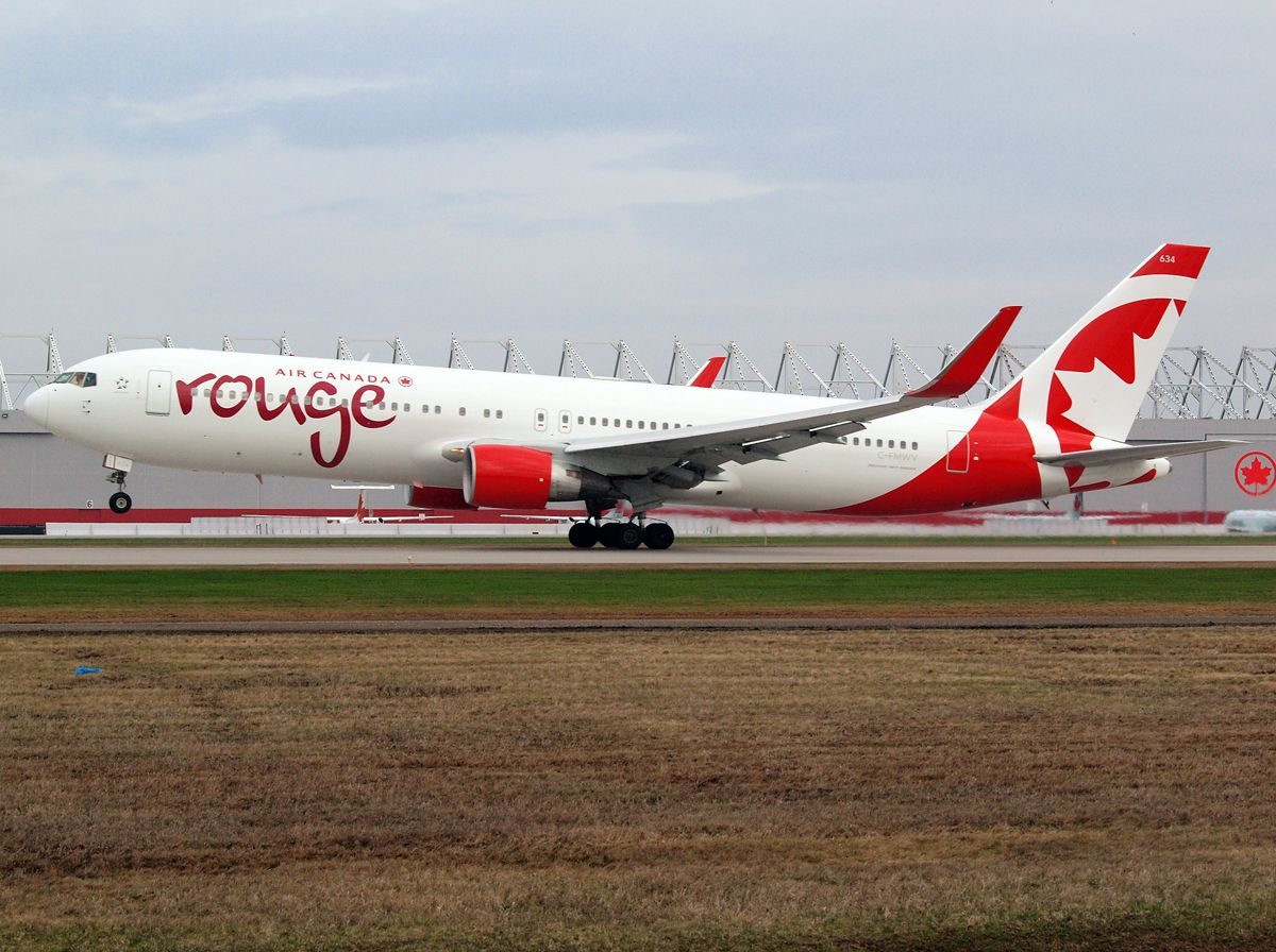 Air Canada Rouge B763 with winglets rotating on 24L at YUL
