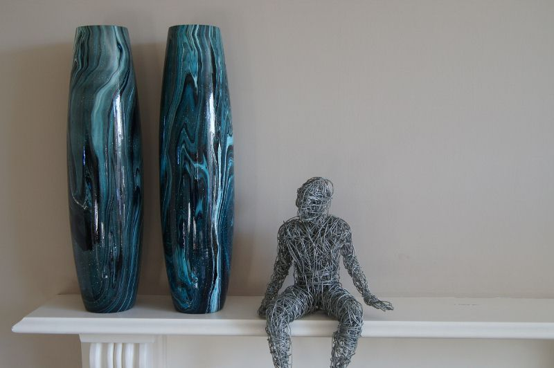 Lagoon Bullet Vases by Melodesigns. Double the attitude!