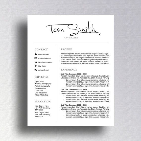 Buy 1 get 1 FREE Professional Resume Template CV Template Cover - free professional resume