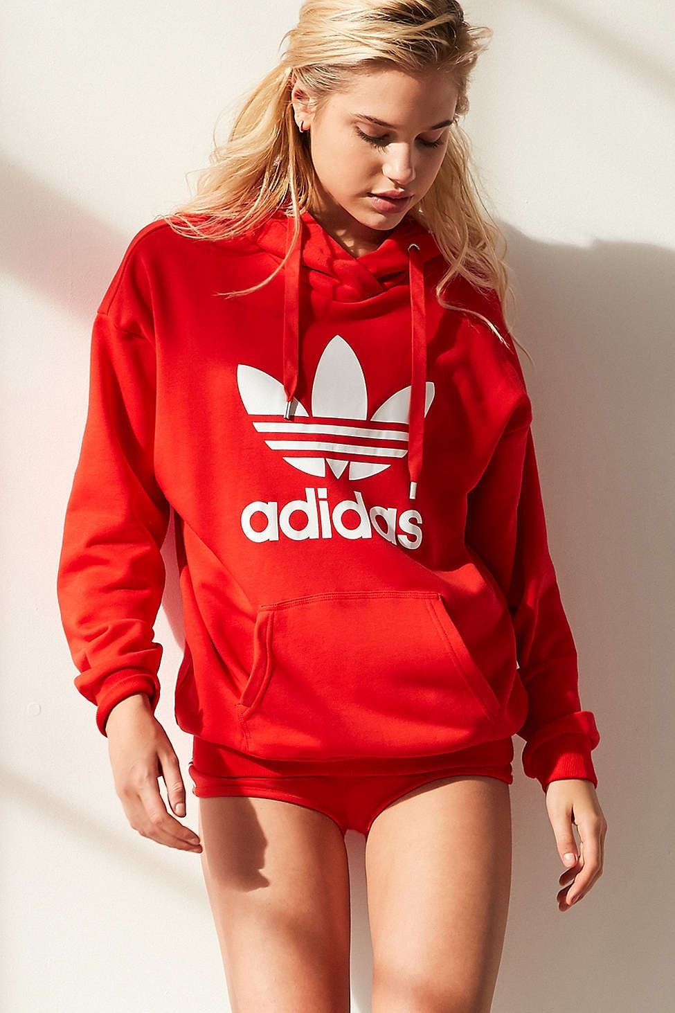 adidas Originals Trefoil Hoodie Sweatshirt - Urban Outfitters  8cfc306790f