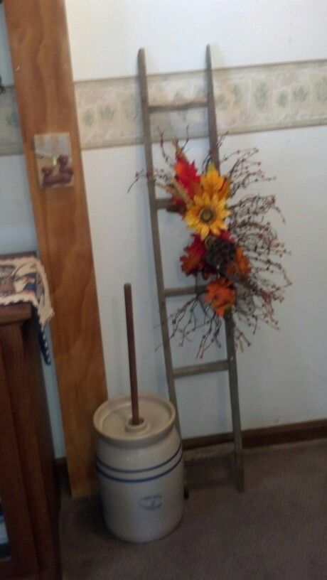 Ladder Made Out Of Tobacco Sticks Diy Projects