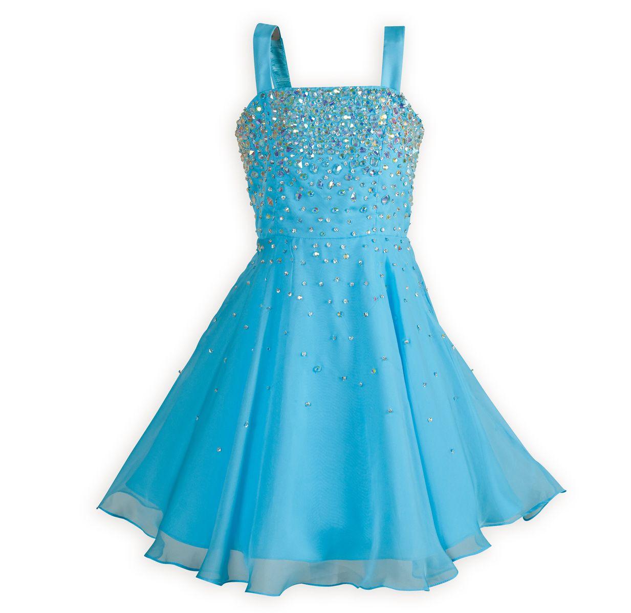 Tween Party Dresses Shimmering Aqua Tween Girls Swing Style Dress 7