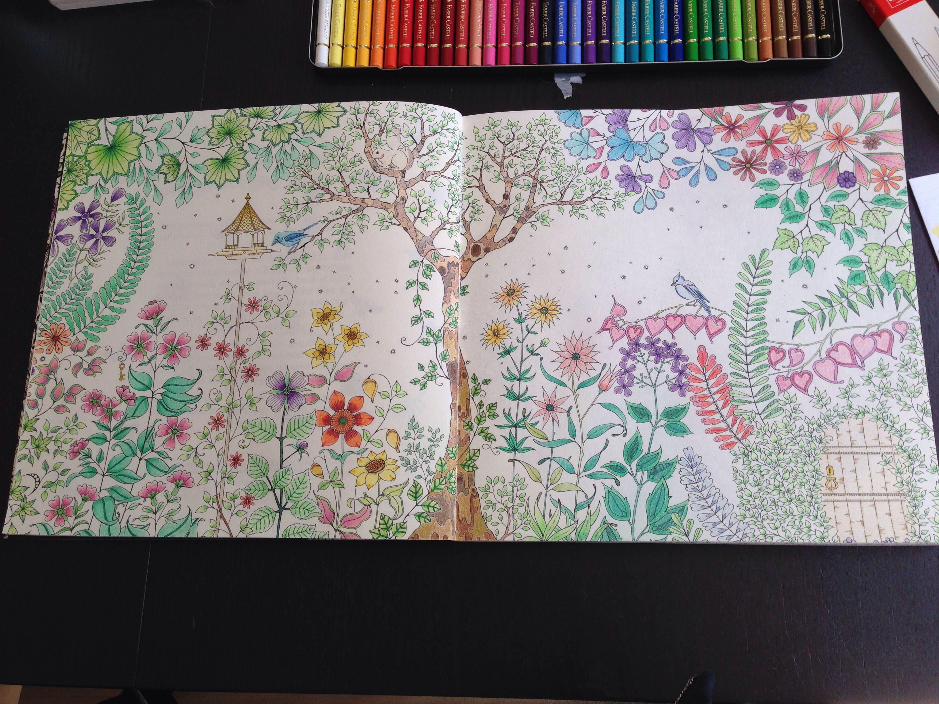 Eerste Kleurplaat Van Het Kleurboek Mijn Geheime Tuin
