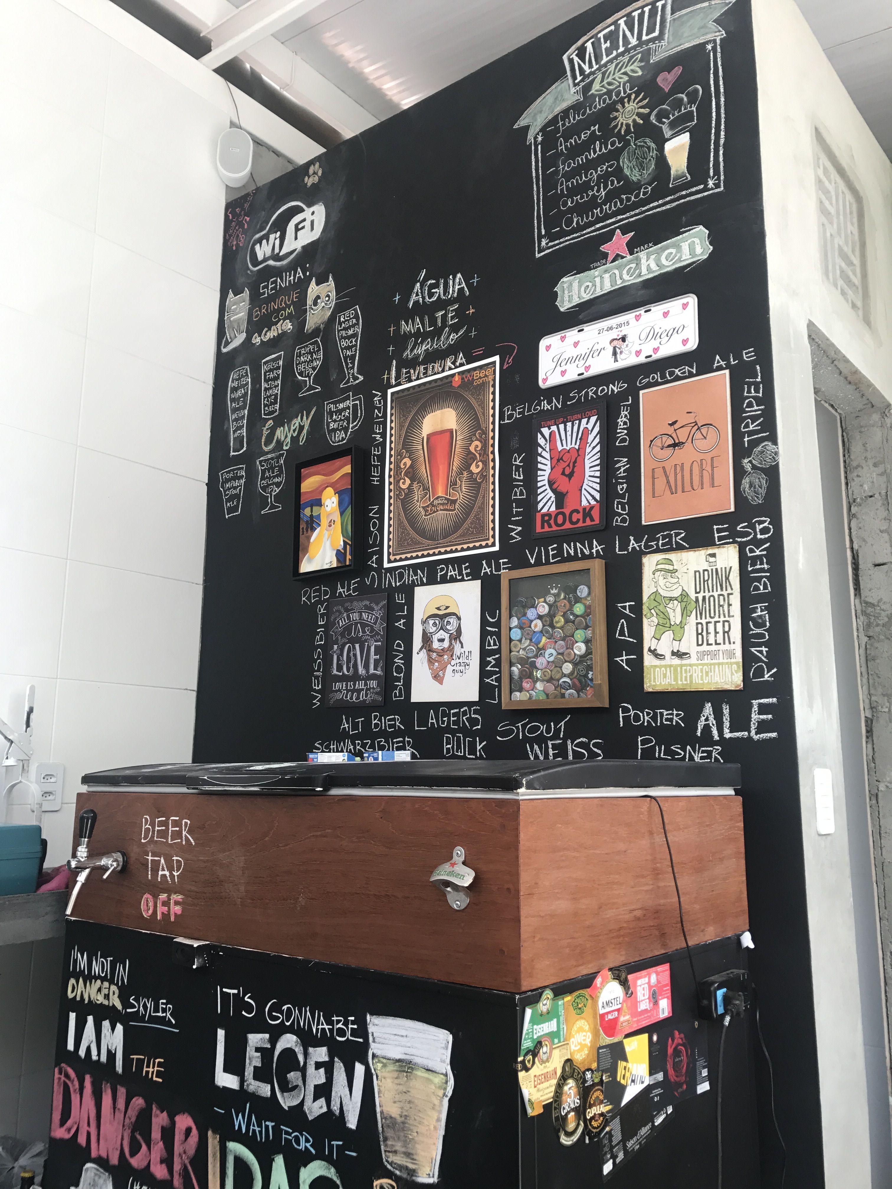 Keezer decoração pub giz