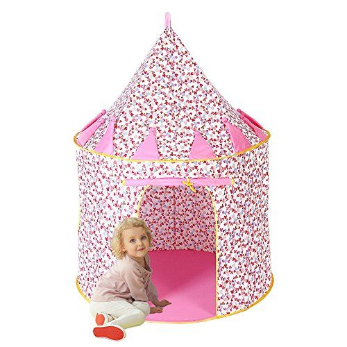 Princess Castle Play Tent Everfunny Cotton Material Outdoor Foldable Popup Playhouse for kids Birthday Christmas Gift  sc 1 st  Pinterest & Princess Castle Play Tent Everfunny Cotton Material Outdoor ...