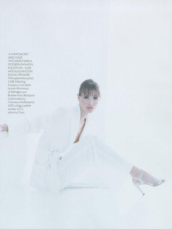 Vogue (UK) April 1997 | Elsa Benitez | vintage | vogue pages | Pinterest
