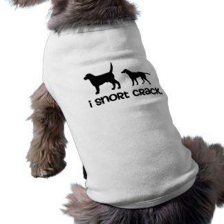 I snort crack doggie shirt  | Funny Dog Gift | #funnydogshirt #funny #gift #dog #shirt #snort #crack #humor #doghumor #tail