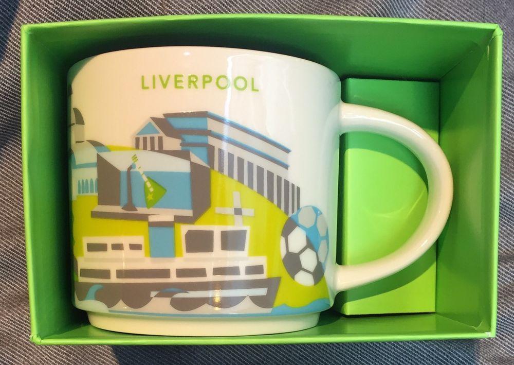 Starbucks Liverpool Yah Mug England You Are Here Football Uk