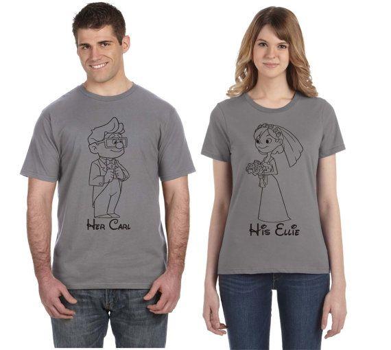 cc7b0035f075 Disney Couple Shirts Carl and Ellie Up Our by SugarCoatedDreams ...