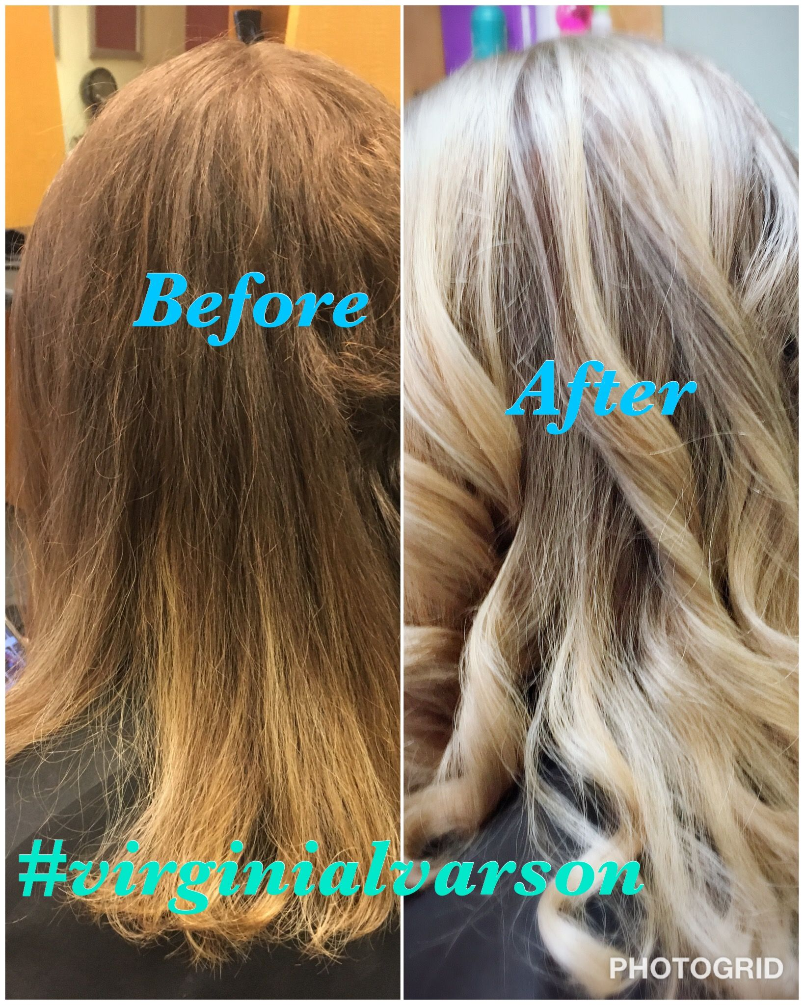 Balayage From Brown Red Hair Color To Ash Blonde Using Tigi