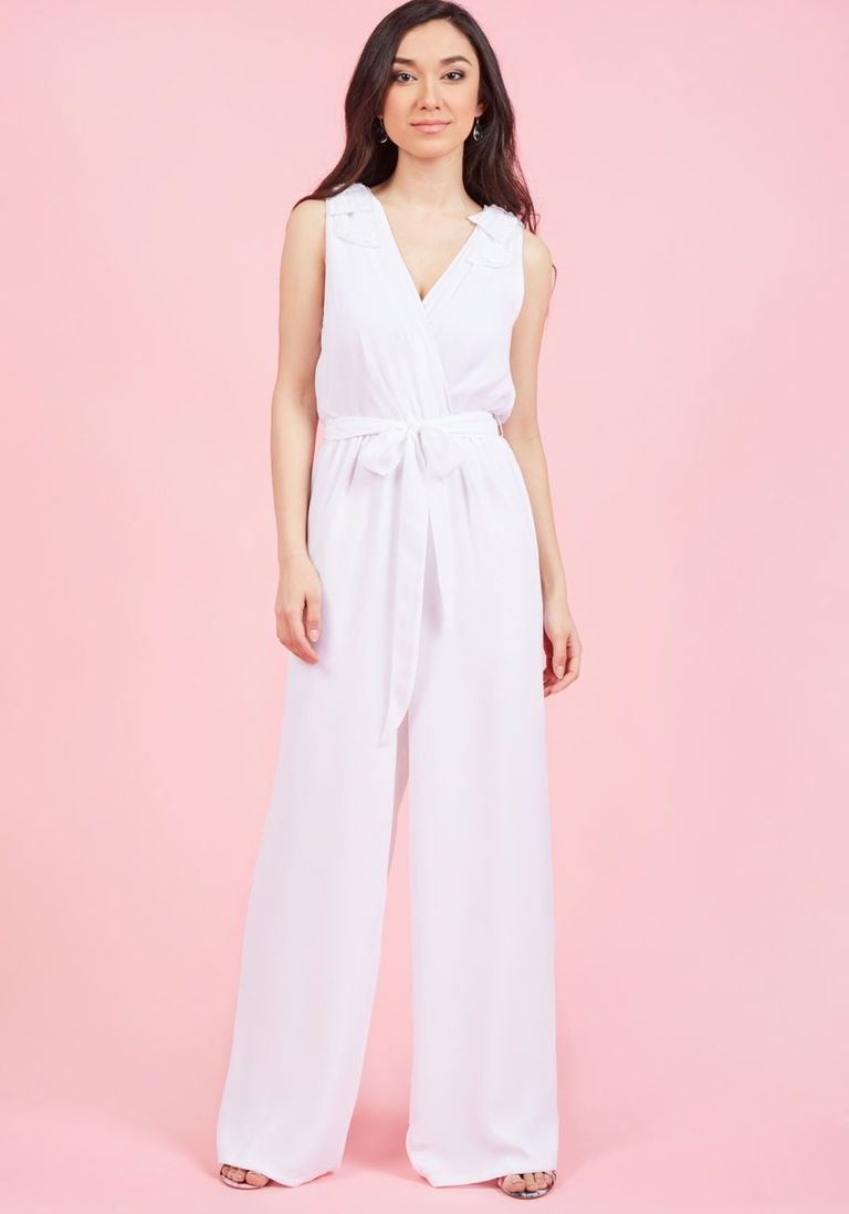 Eventful Elation Jumpsuit in White