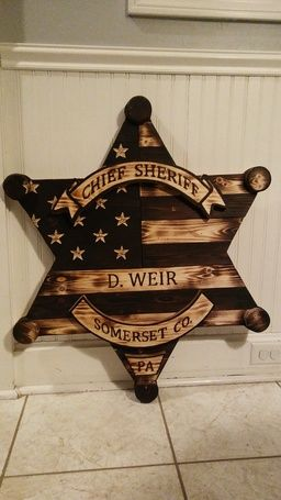 Ryobi Nation Wooden Sheriff Badge Diy Wood Projects