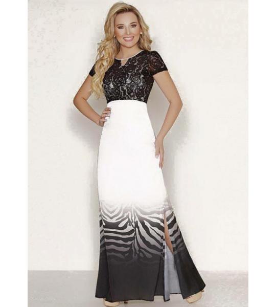 aba497c3f 3984 - Vestido Longo Estampado Renda - Floratta Modas | how to dress ...