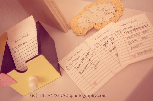 Detail To Love: Library Card Guestbook