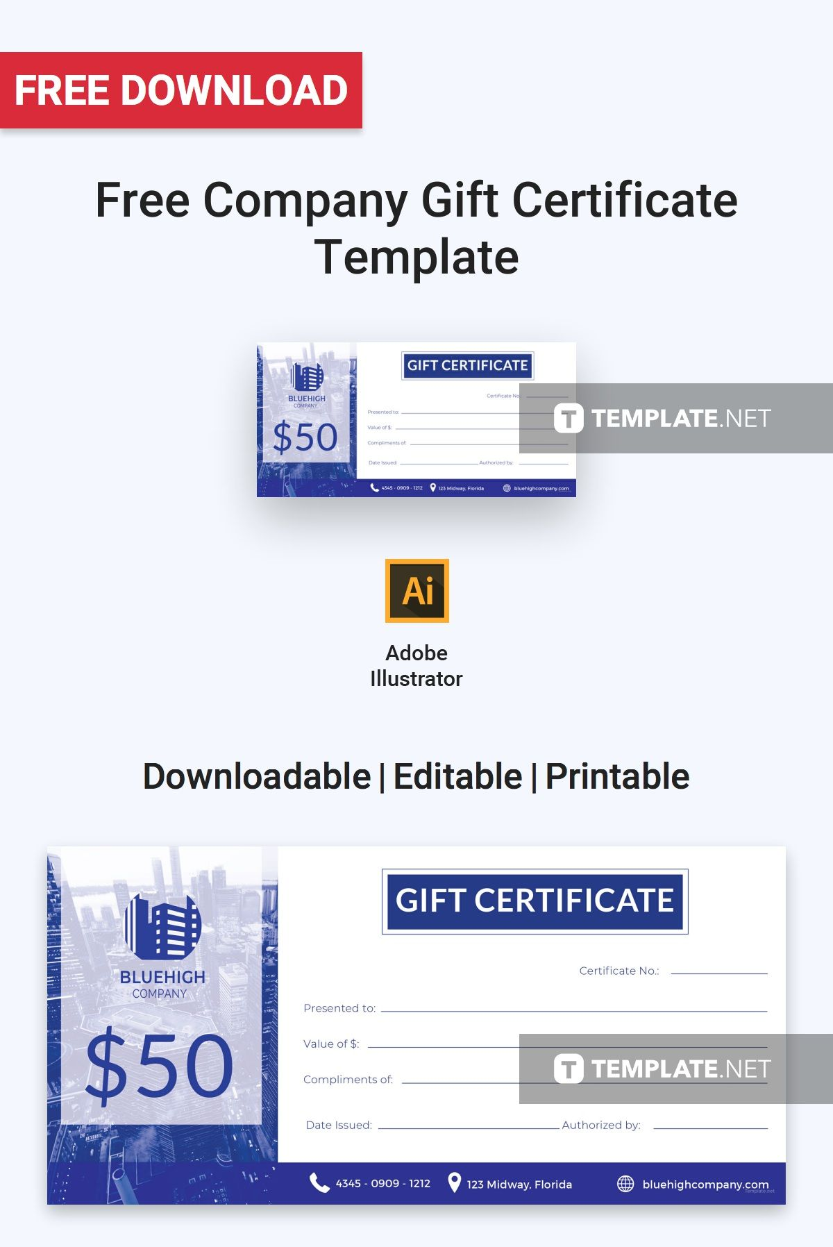 Free Company Gift Certificate Printables Invitations Stationery