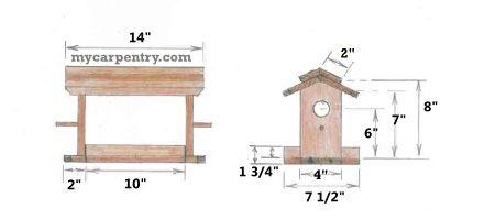 futterh uschen bauplan f r holzwerker wooden bird feeder. Black Bedroom Furniture Sets. Home Design Ideas