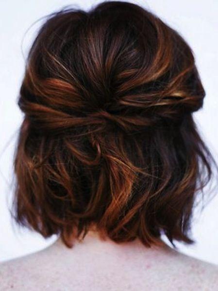 Half Up Short Hairdo Short Hair Styles Hair Styles Long Hair Styles