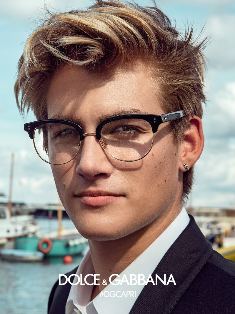 Mens Hairstyles With Glasses Get Inspired By Dolce Gabbana Eyewear Advertising Campaign And