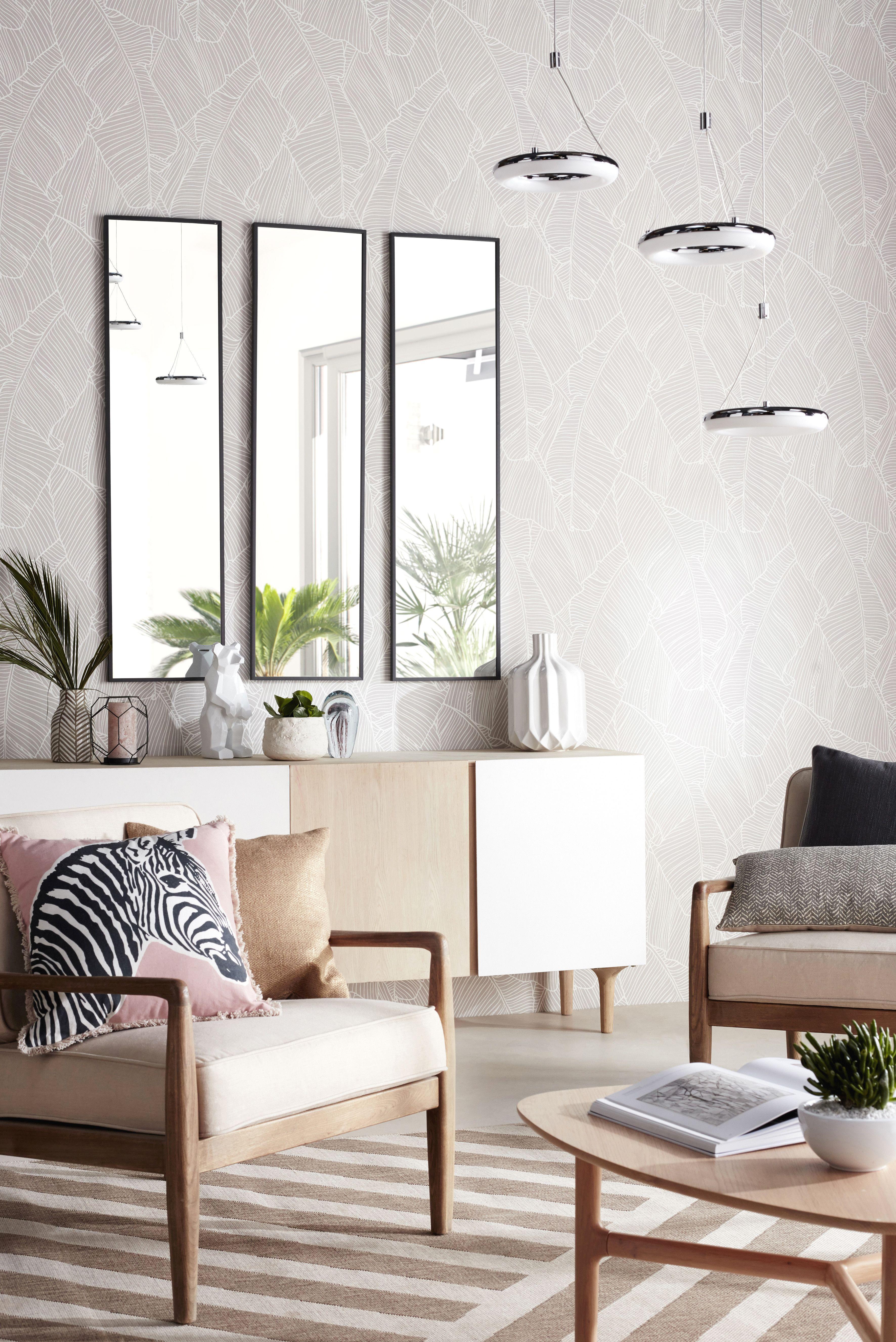Idee Deco Miroir Adhesif Avec Miroir Linaria Noir 17 X 17 Cm Mur