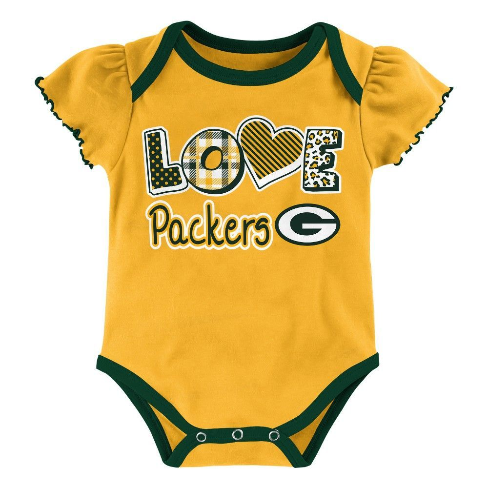 4e7e87404 Child Bodysuits NFL Green Bay Packers Team Color 18 M, Girl's, Multicolored  White