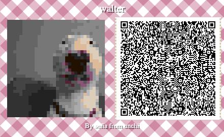 Walter Codice Cane Meme Qr Acnh In 2020 Animal Crossing 3ds Animal Crossing Memes Animal Crossing Qr