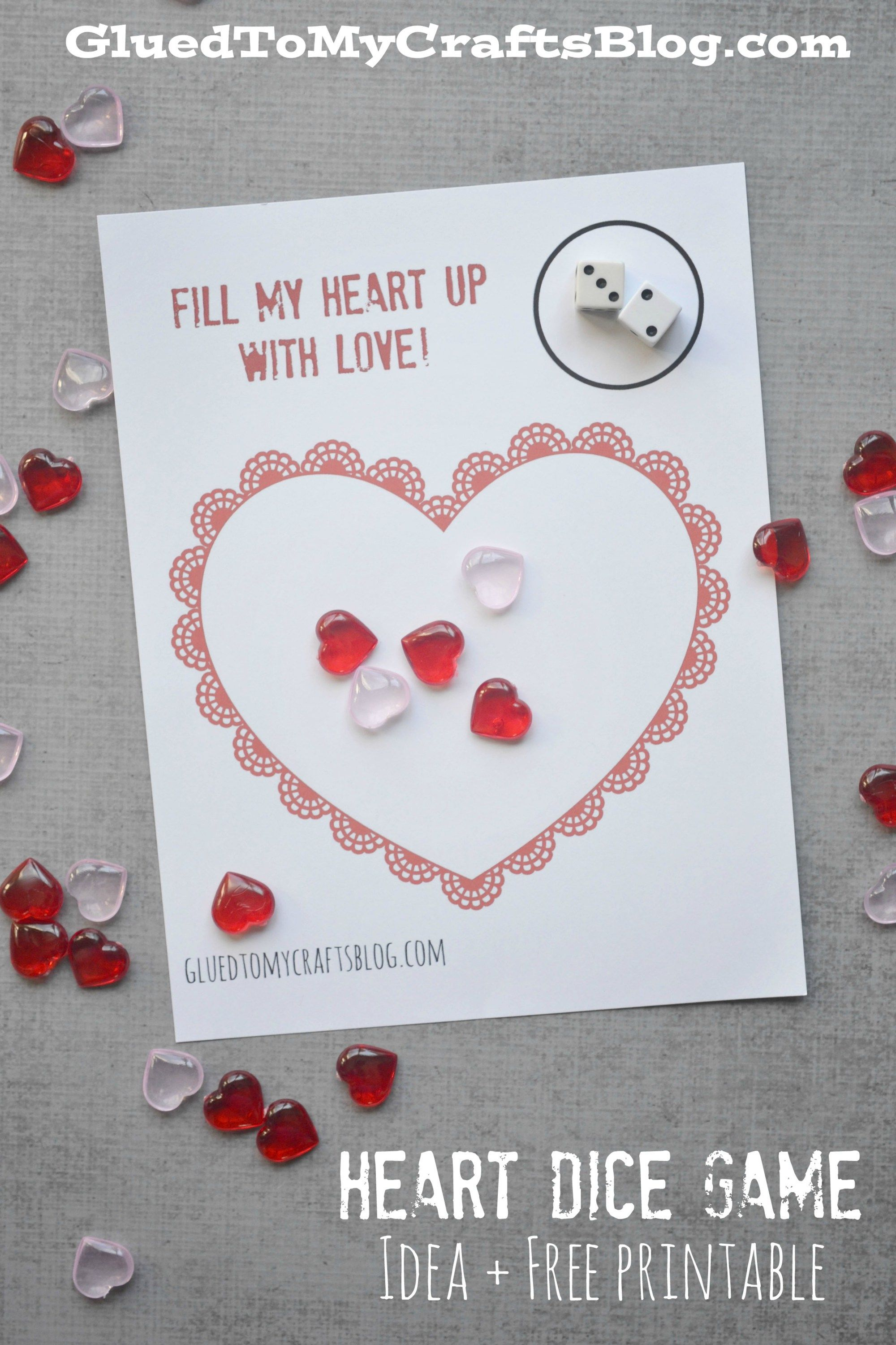 Valentine S Day Heart Dice Game Free Printable
