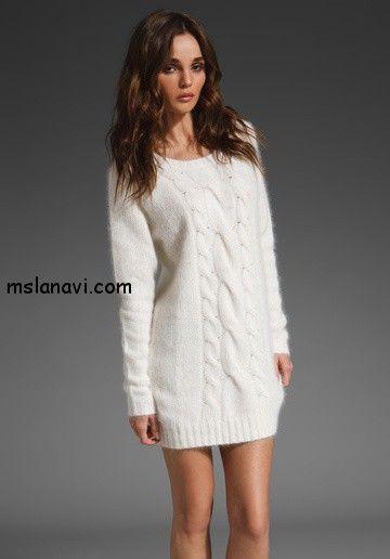 2fb330834ac4e2 вязаные платья спицами фото | вязание | Платья, Вязание, Большой свитер