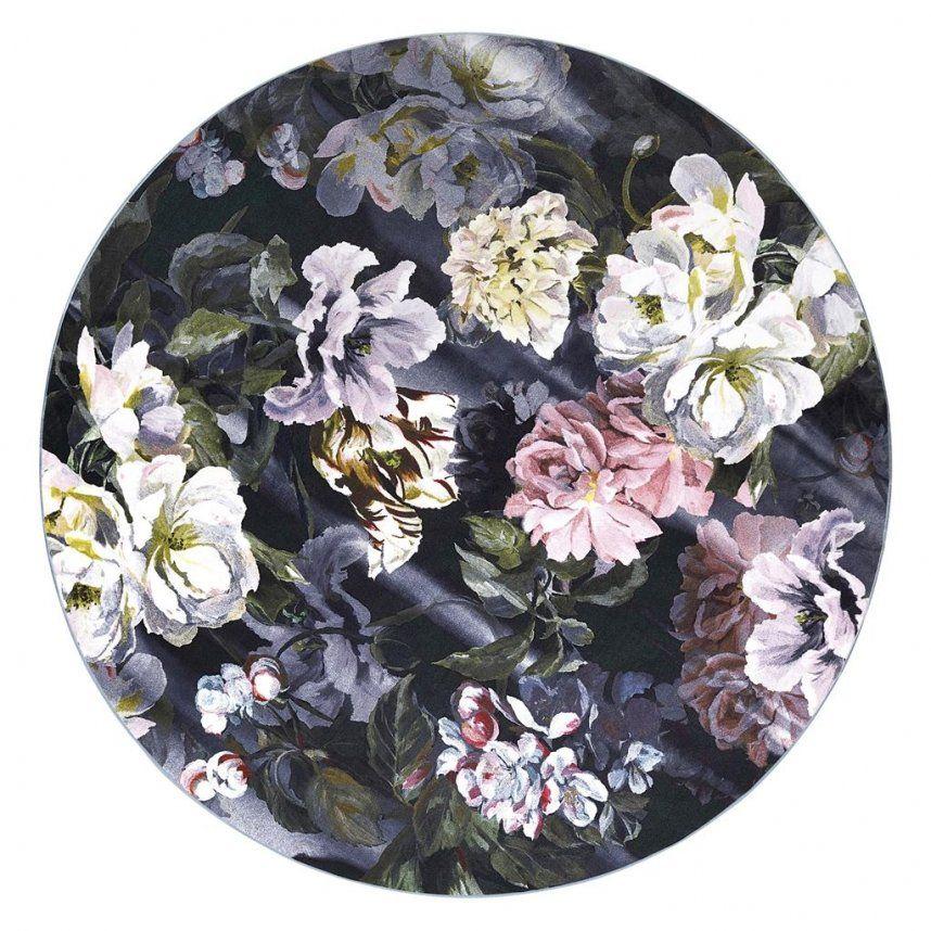 Designers Guild Delt Flowers Noir Rug by Icon Textiles