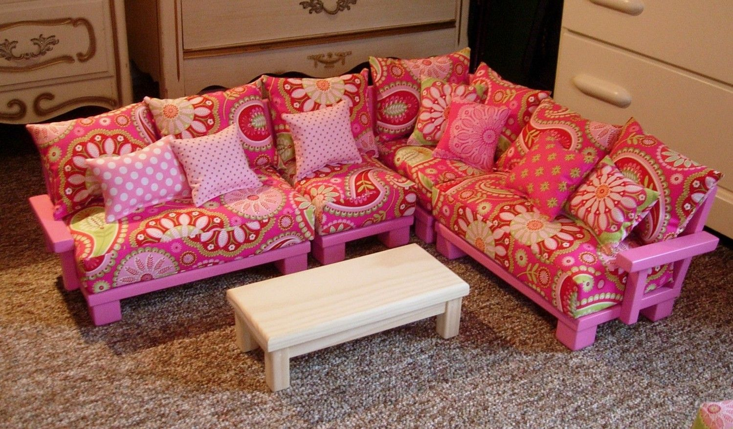 Doll Couch Chair Sectional Living Room Furniture For American Girl Doll American Girl Doll Furniture American Girl Furniture American Girl Doll House