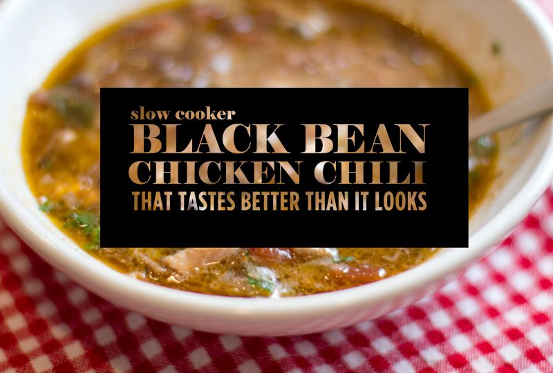 Recipe for Slow Cooker Black Bean and Chicken Chili - helenjane.com