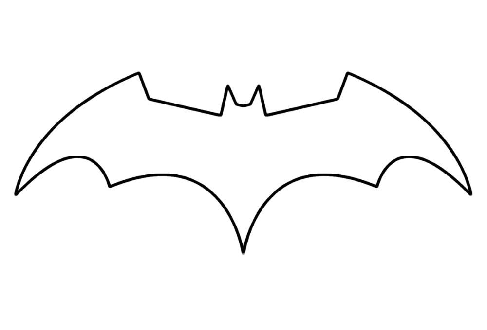 Batman Logo Coloring Pages Template Educative Printable Batman Logo Tattoo Batman Symbol Batman Logo