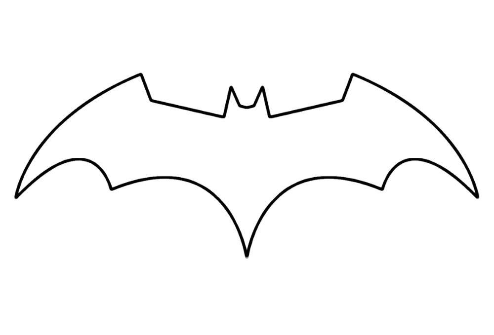Batman Logo Coloring Pages Template Educative Printable In 2020 Batman Logo Tattoo Batman Symbol Batman Logo