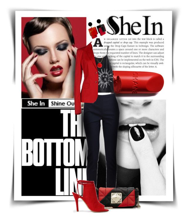 """""""SheIn"""" by diva1023 ❤ liked on Polyvore featuring Michael Kors, Sonia Rykiel, Daniele Alessandrini and Lanvin"""