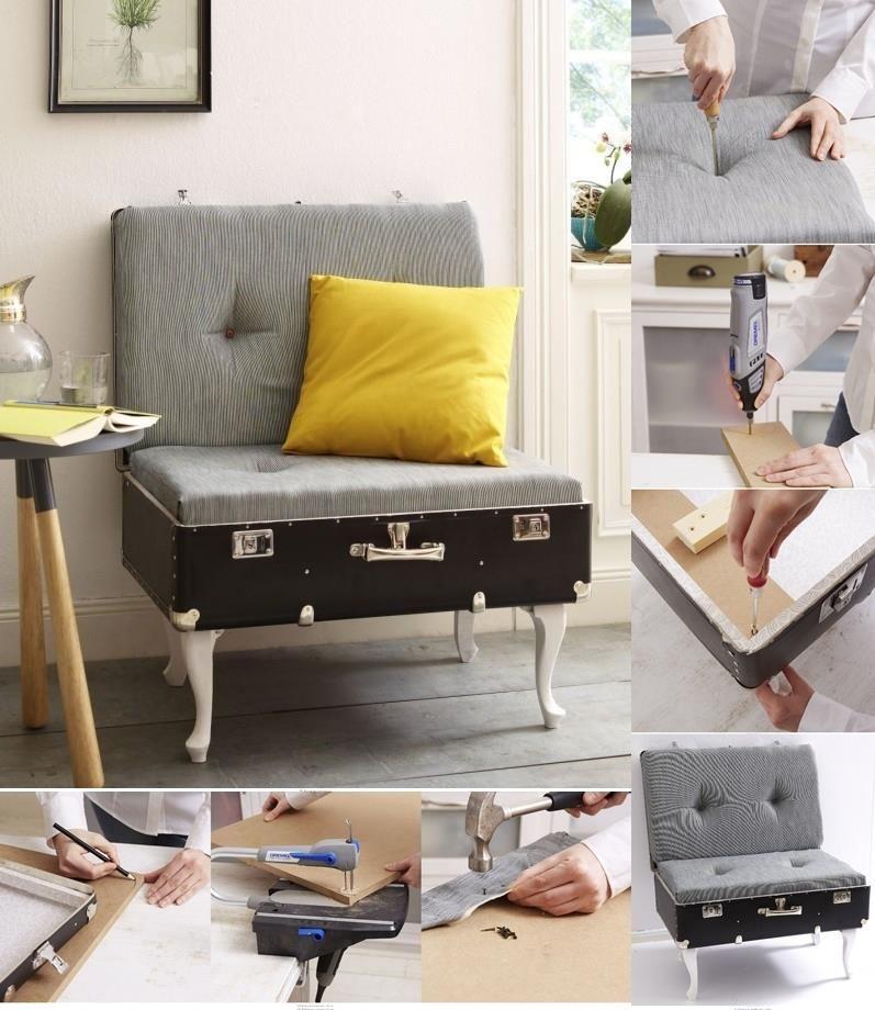 DIY Building a suitcase chair
