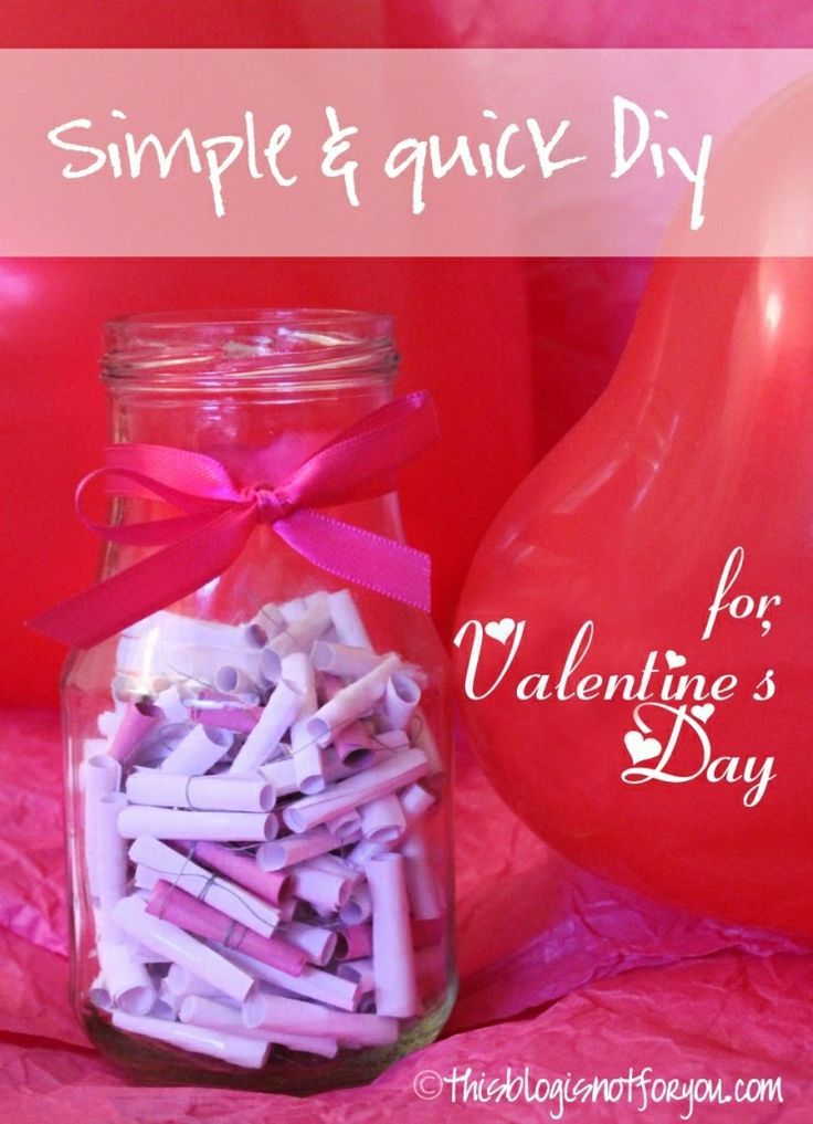 Valentines Day Jar ~ write love notes, inspirations, a free
