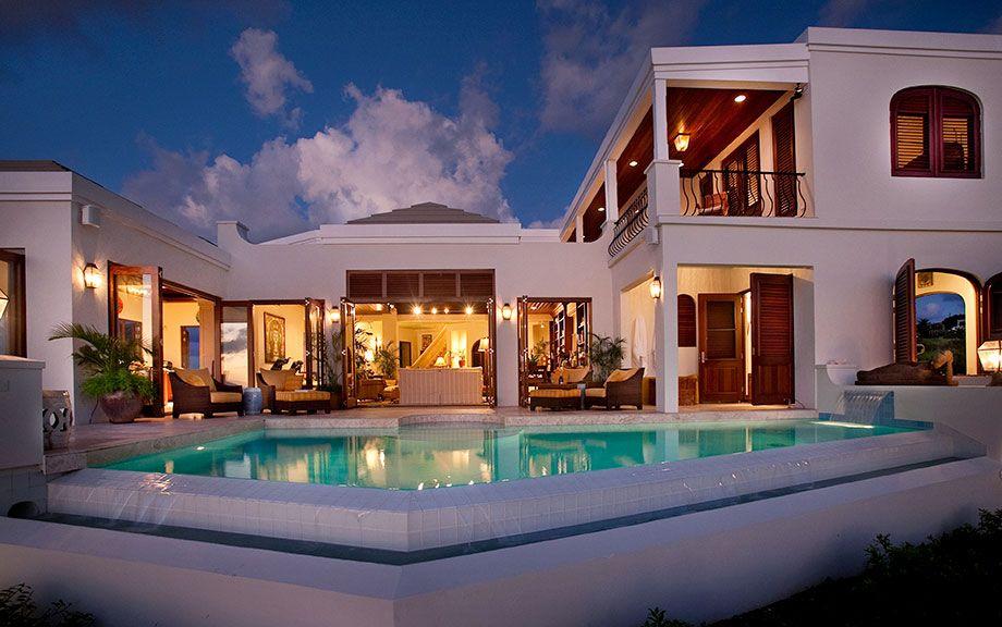 7d2cc785aedfd8ae3aa8fde24e25e1c6 island luxury mansions caribbean amazing villa pool facade on caribbean island style house plans - Caribbean Homes Designs