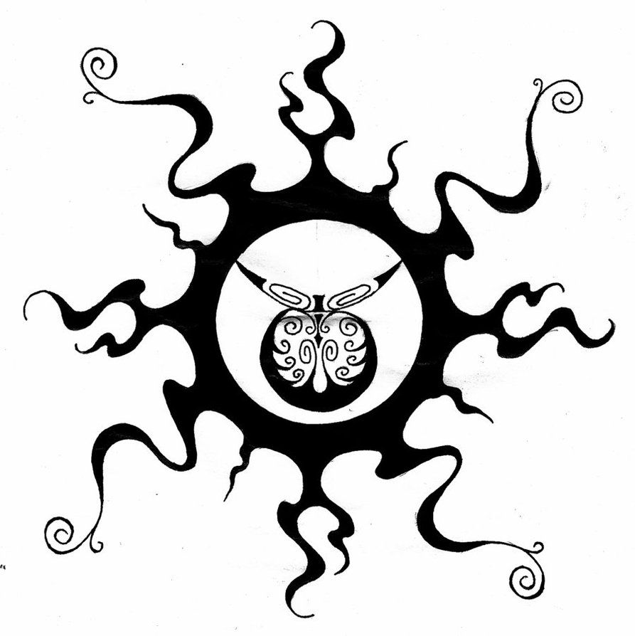 Tribal sun by twistedrazorblade drawing pinterest taurus new tribal inner strength symbol tattoo design biocorpaavc Choice Image