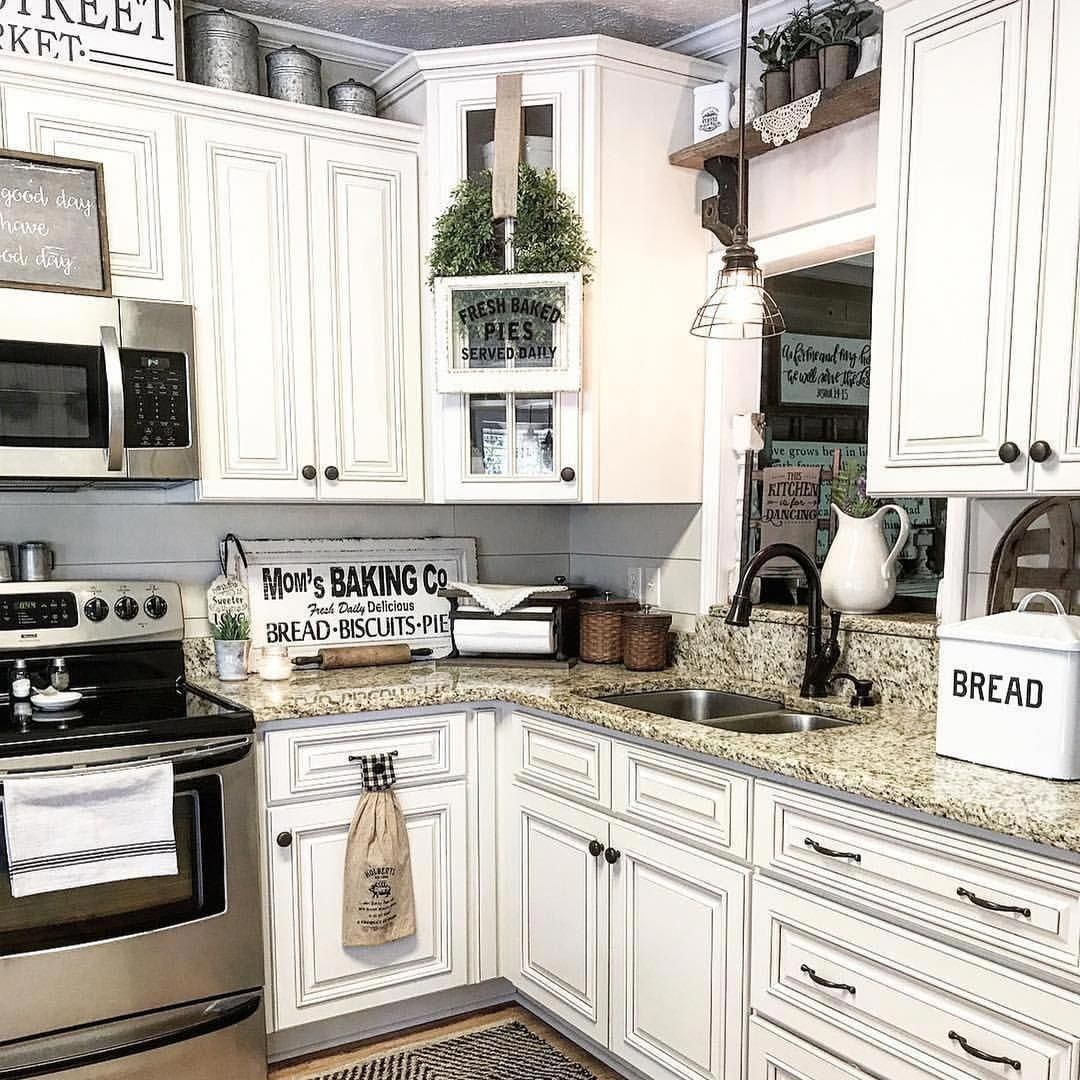 Antique Country Kitchen Cabinets Farmhouse style antique kitchen. | Kitchen cabinets decor, Home