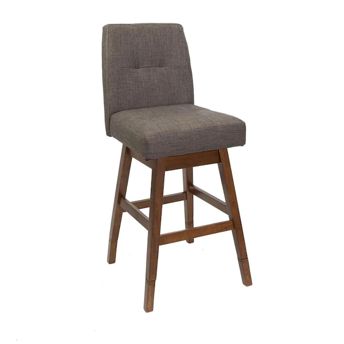 Chestnut Adjustable Upholstered Swivel Bar Stool